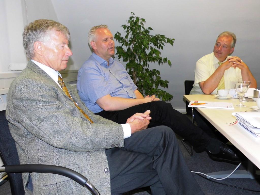 Eine interessante Gesprächsrunde zur Gründerszene führten (v. l.) Professor Dr. Christoph Helm, Björn Thümler (CDU-Fraktionschef im Landtag) und Frank Oesterhelweg (MdL).