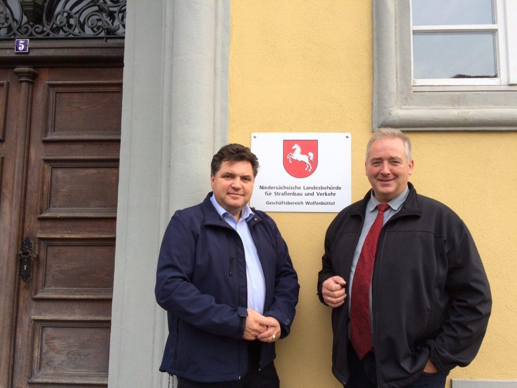 Straßenbaubehörde Wolfenbüttel Frank Oesterhelweg mit Uwe Schäfer