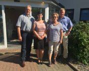 v. l. n. r. Dietmar Fricke, Cornelia Kasten, Sarah Grabenhorst-Quidde und Frank Oesterhelweg.
