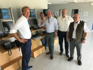 Im Bild v. l. n. r.: Christian Auerswald, Steffen Maschke, Holger Bormann, Frank Oesterhelweg und Wolfgang Gürtler