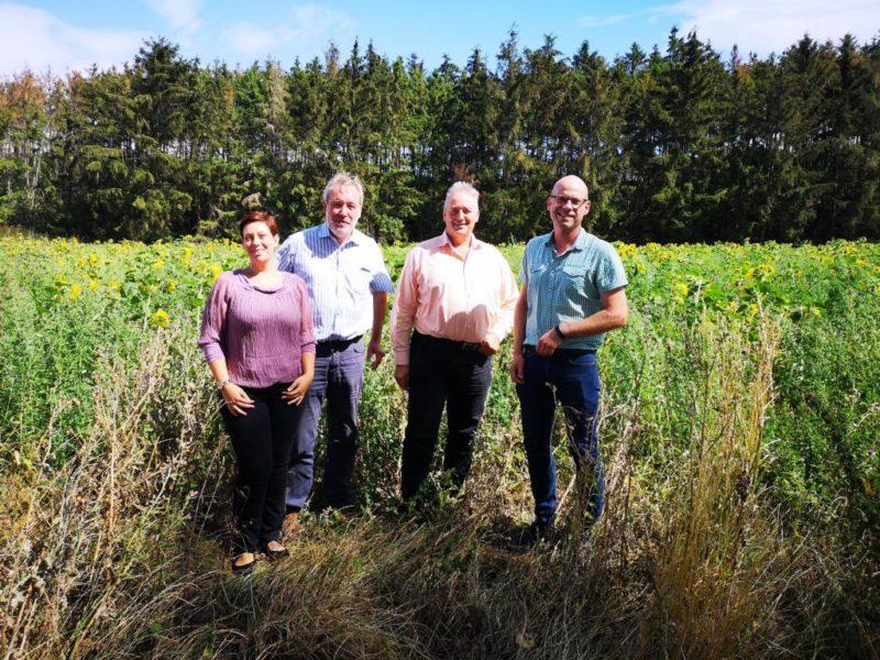 Im Bild v. l. n. r.. Sarah Grabenhorst Quidde, Karl-Heinz Müller, Frank Oesterhelweg und Eike Herweg.