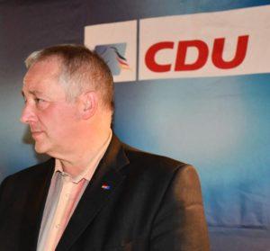 Frank Oesterhelweg, CDU-Kreisvorsitzender, während der Diskussions- und Fragerunde